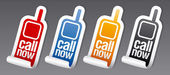 Call now stickers. — Stock Vector
