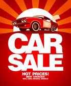 Bil försäljning formgivningsmall. — Stockvektor