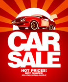 Car sale design template. — Vecteur