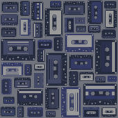Cassette tape seamless pattern. — Stock Vector