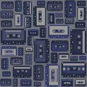 Cassette tape seamless pattern. — Stock Vector