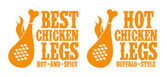Het kyckling ben tecken. — Stockvektor