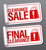 Final clearance sale stickers. — Stock Vector