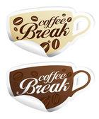 Coffee Break stickers. — Stock Vector