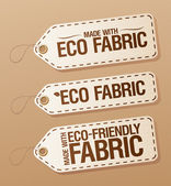 Made with Eco-friendly Fabric labels. — Stock Vector