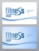 Fitness club-lidkaart. — Stockvector