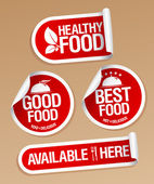 Healthy Food stickers. — Stock Vector