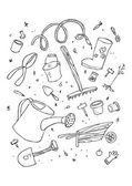 садовый инструмент — Cтоковый вектор