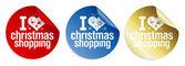 Pegatinas de compras de navidad. — Vector de stock