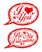 Valentines day stamps. — Stock vektor