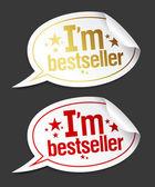 Ich bin bestseller-aufkleber. — Stockvektor