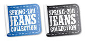 New jeans collection stickers — Stock Vector