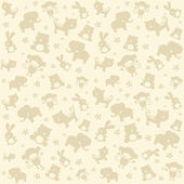 Child seamless pattern with animals. — Cтоковый вектор