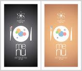 Restaurant menu card design template. — Stock Vector