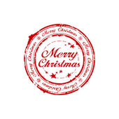 Merry Christmas stamp — Stock Vector