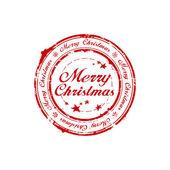 Selo de natal feliz — Vetor de Stock
