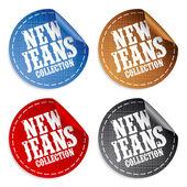 Autocollants collection jeans — Vecteur