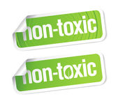 Non toxic stickers. — Stock Vector