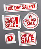One Day Sale stickers. — Stok Vektör