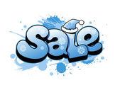 Christmas sale illustration. — Stock Vector