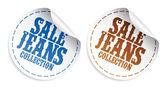 Försäljning jeans samling klistermärken — Stockvektor