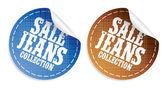 Adesivos de coleção de jeans venda — Vetor de Stock