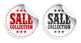 Etiquetas engomadas de la colección de venta — Vector de stock