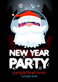 New Year Party design template. — Stok Vektör