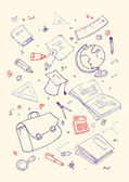 Illustraition of school subjects — Stock Vector
