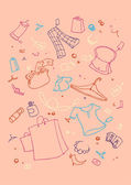 Shopping symbols — Stock Vector