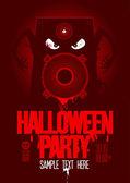 Halloween party design template. — Stock Vector