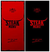 Steak menu. — Stock Vector