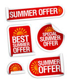 Summer offers stickers. — Stock Vector