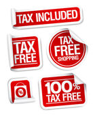 Tax free shopping stickers. — Stock Vector