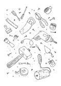 Illustraition of tools — Stock Vector
