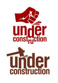 Under construction signs. — Stock Vector