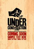 Unter Konstruktion. — Stockvektor