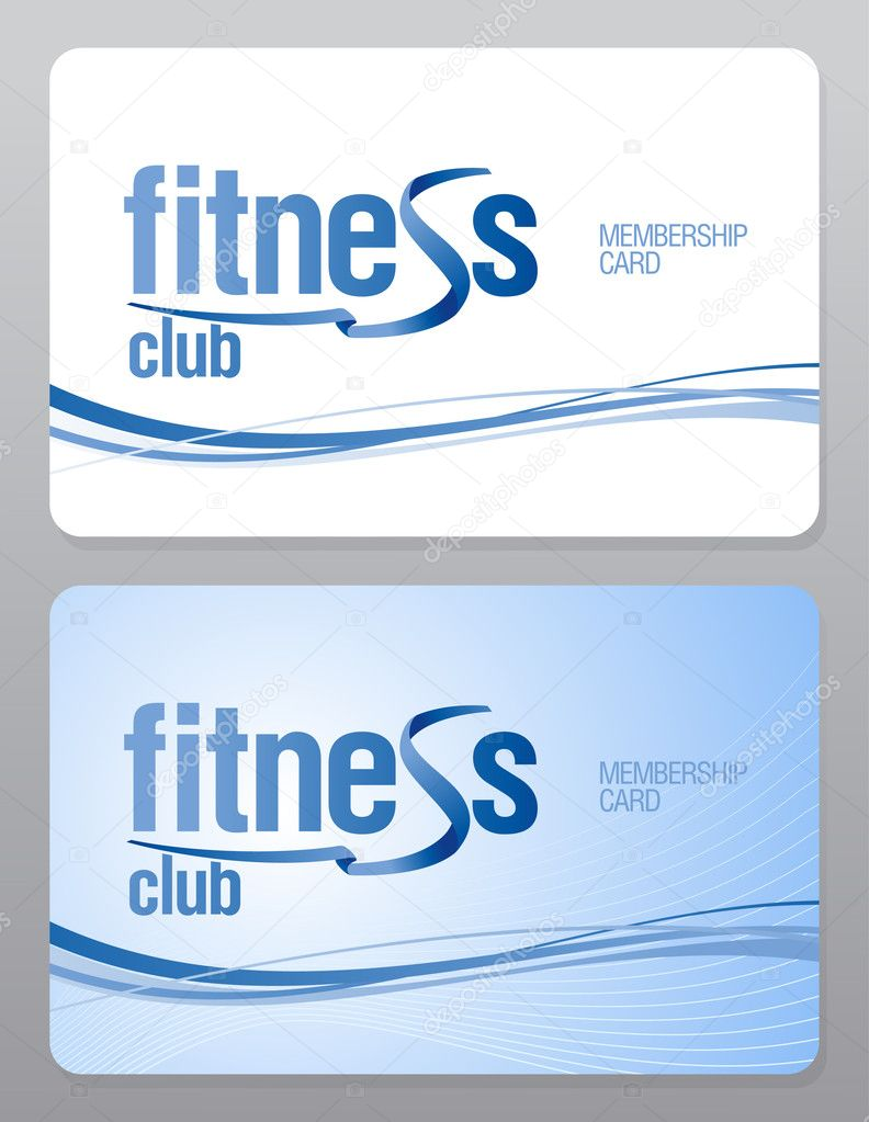 Fitness club membership card Vector slena 27590669 – Membership Cards Template