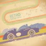 Grunge design with retro car. — Stock Vector #31355819