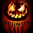 Halloween sale design. — Stock Vector