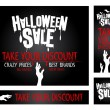 Halloween sale banners. — Stock Vector