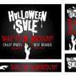 Stock Vector: Halloween sale banners.