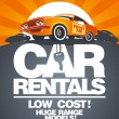 Car rentals design template. — Vettoriale Stock #31358727