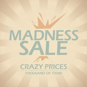 Madness sale design. — Stock Vector
