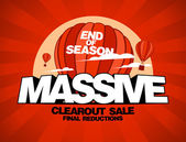 Massive sale design template — Stock vektor