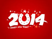 2014 new year design. — Vector de stock