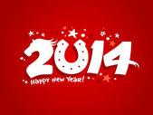 2014 yeni yıl tasarım. — Stok Vektör