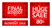 Final clearance blowout banners — Stock Vector