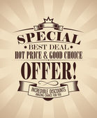 Special offer design. — Vettoriale Stock