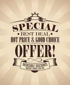 Special offer design. — Stock Vector